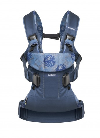 BabyBjorn ONE kol.Midnight blue/Leaf print