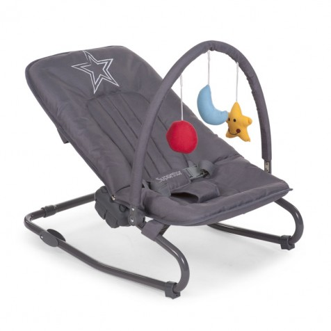 Шезлонг Child Wood Rocker Relax kol. Anthracite