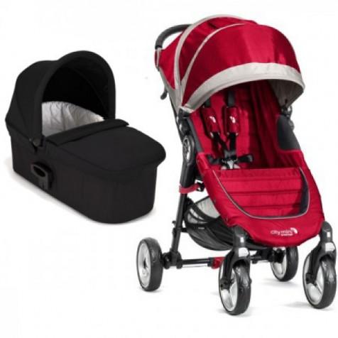Baby Jogger City Mini 4 цвет Crimson/Gray