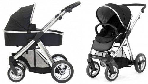 Коляска 2в1 Babystyle Oyster Max Ink Black шасси Silver