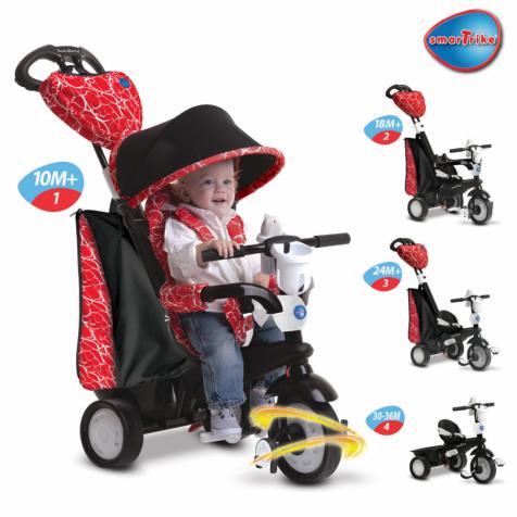 Smart-Trike 4w1 Chic kol.Red