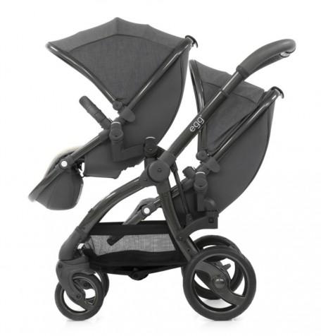 Прогулочная коляска для двойни Baby Style Egg цвет Quantum Grey