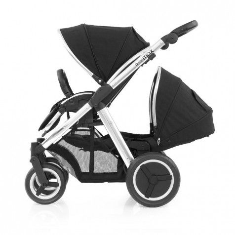 Прогулочная коляска для двоини Babystyle Oyster Max Ink Black шасси Silver