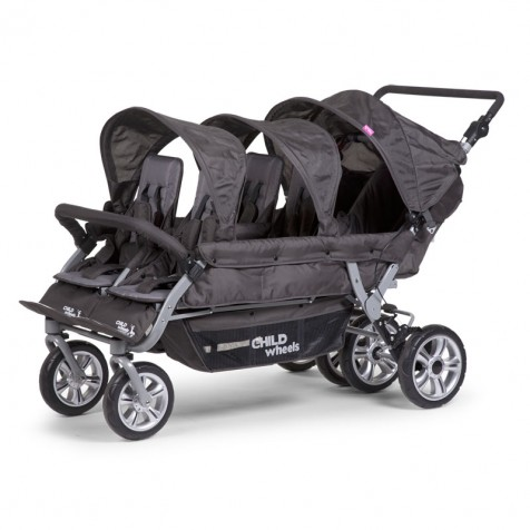 Прогулочная коляска Child Wheels Six Seater 2 kol. Anthracite