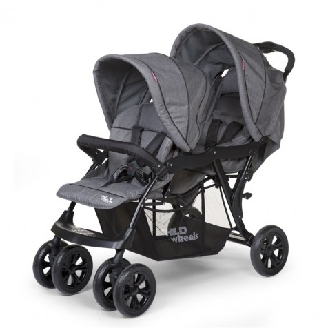 Прогулочная коляска для двоини Child Wheels Tandem kol. Anthracite