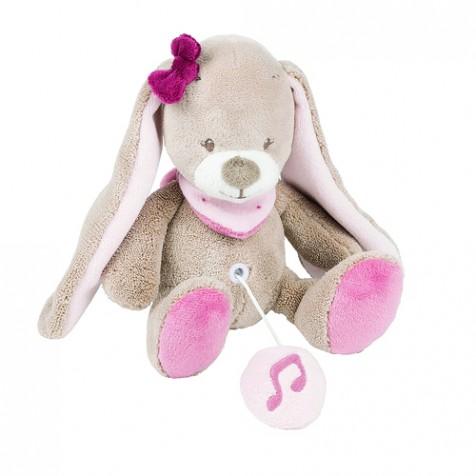 Музыкаьная игрушка Nattou кролик Нина 24 см