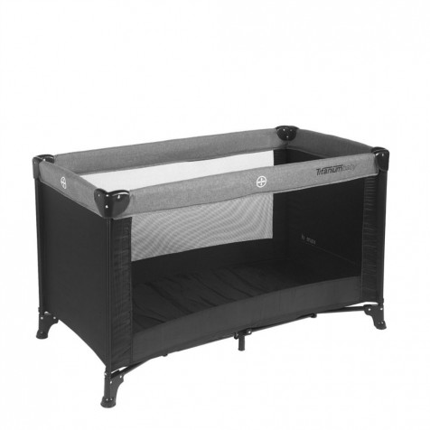 Titaniumbaby Camping bed black/grey