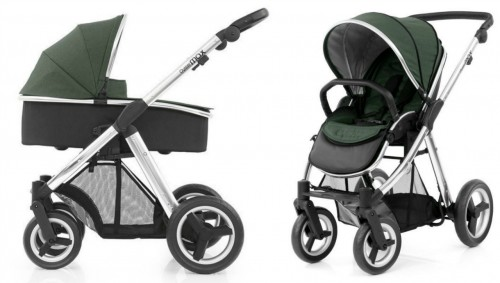 Коляска 2в1 Babystyle Oyster Max Olive Green шасси Silver