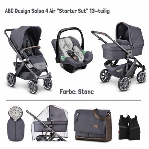 Коляска 3в1 ABC Design Salsa 4 Air + set з 13 елементов цвет stone