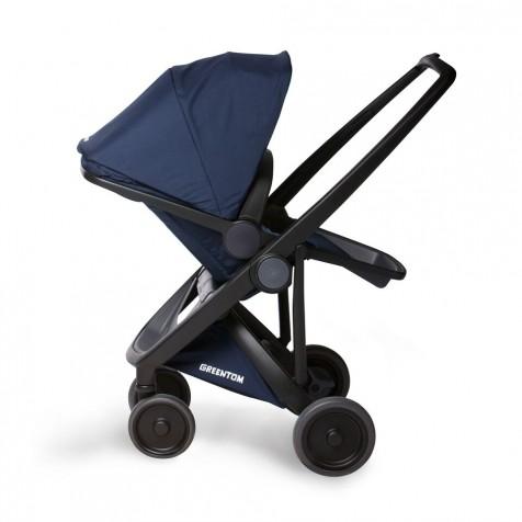 Прогулочная коляска Greentom Upp Reversible Black kol. Blue