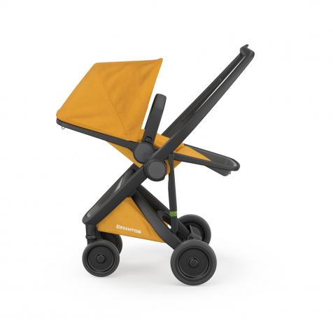 Прогулочная коляска Greentom Upp Reversible Limited Edition Black kol. Honey