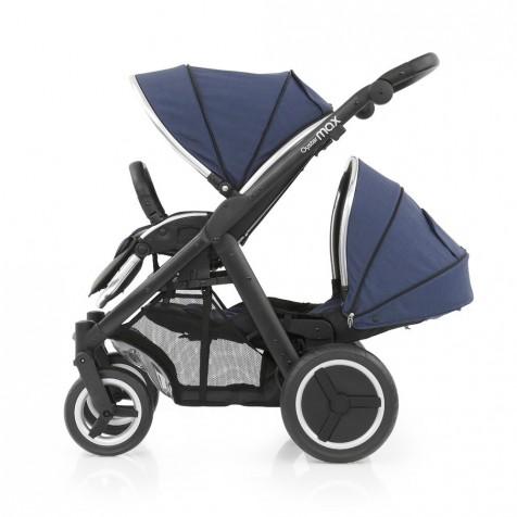 Прогулочная коляска для двоини Babystyle Oyster Max Oxford Blue шасси Black