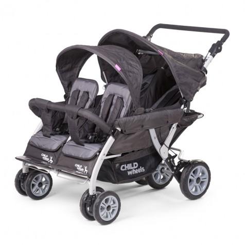 Прогулочная коляска Child Wheels Quadraple 2 kol. Anthracite