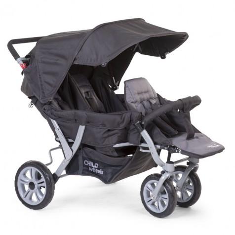 Прогулочная коляска для троини Child Wheels Triplet kol. Antracite